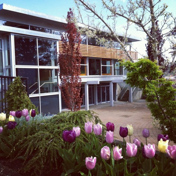 Sid Williams Theatre - flowers out front
